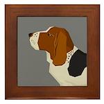 Basset Hound Profile Framed Tile