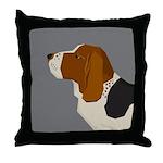 Basset Hound Profile Throw Pillow