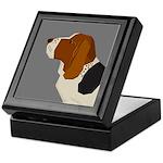 Basset Hound Profile Keepsake Box