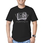 read global Men's Fitted T-Shirt (dark)