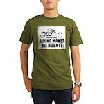 Riding Makes Me Horny! Organic Men's T-Shirt (dark