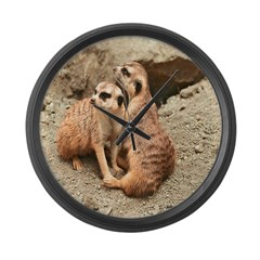 Meerkats Large Wall Clock