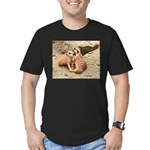 Meerkats Men's Fitted T-Shirt (dark)