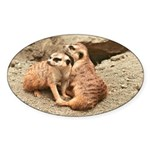 Meerkats Oval Sticker (10 pk)