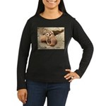 Meerkats Women's Long Sleeve Dark T-Shirt