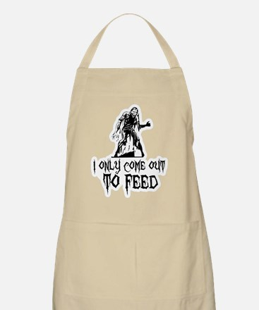 Zombie Only Come Out To Feed BBQ Apron