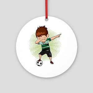 Football Dab Arabia Saudi-Arabia Sa Round Ornament