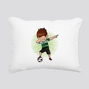 Football Dab Arabia Saud Rectangular Canvas Pillow