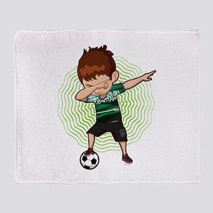 Football Dab Arabia Saudi-Arabia Sau Throw Blanket