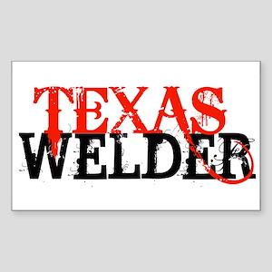 Texas Welder Rectangle Sticker