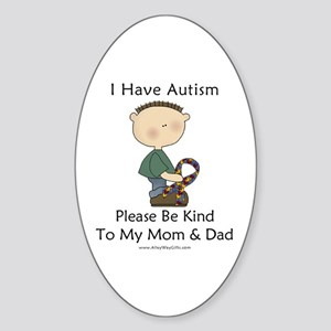Autism Boy- Be Kind Oval Sticker