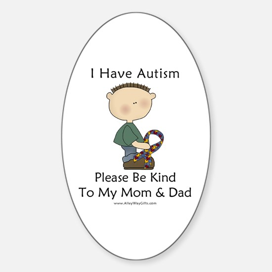 Autism Boy- Be Kind Oval Decal