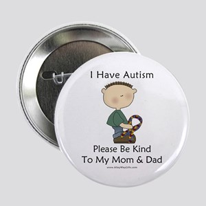 """Autism Boy- Be Kind 2.25"""" Button"""