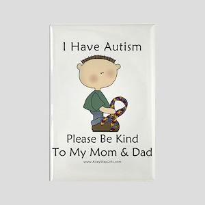 Autism Boy- Be Kind Rectangle Magnet