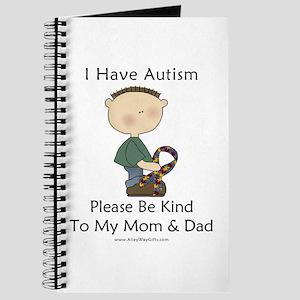 Autism Boy- Be Kind Journal