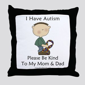 Autism Boy- Be Kind Throw Pillow