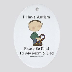 Autism Boy- Be Kind Oval Ornament