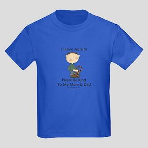 Autism Boy- Be Kind Kids Dark T-Shirt