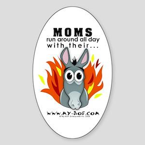 Moms Oval Sticker