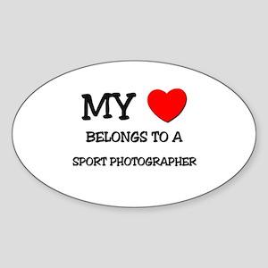 My Heart Belongs To A SPORT PHOTOGRAPHER Sticker (