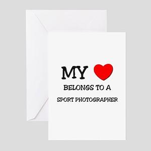 My Heart Belongs To A SPORT PHOTOGRAPHER Greeting