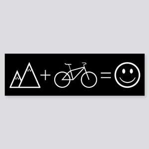 Happy Mountain Biking Bumper Sticker