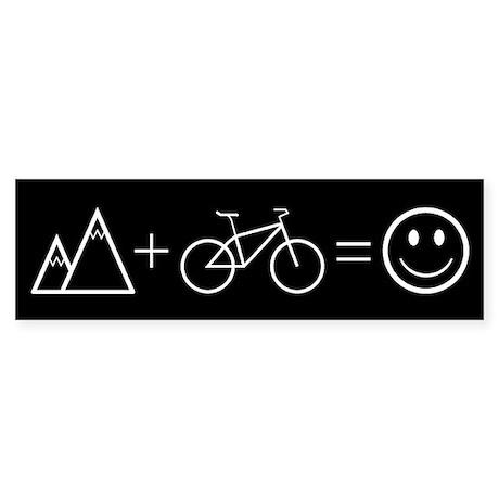 Happy Mountain Biking Bumper Sticker