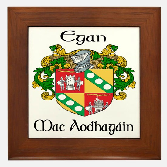 Egan in Irish Framed Tile