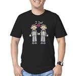 Gay Wedding Grooms Men's Fitted T-Shirt (dark)