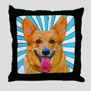 Pop Art Corgi Throw Pillow