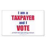 Taxpayer says STOP! (Rectangle Sticker 50 pk)