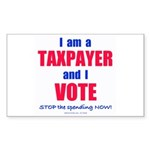Taxpayer says STOP! Rectangle Sticker
