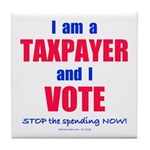 Taxpayer says STOP! Tile Coaster