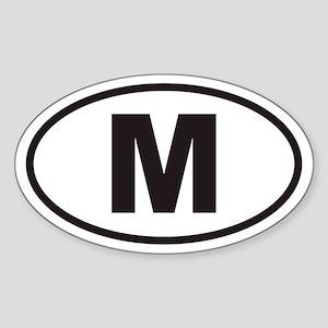 M Euro Oval Sticker