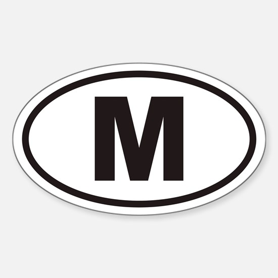 M Euro Oval Decal