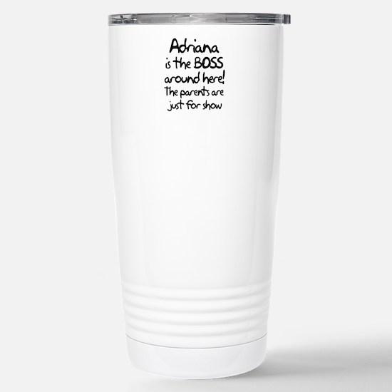 Adriana is the Boss Stainless Steel Travel Mug