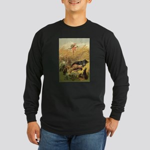 Vintage Puss n Boots Long Sleeve Dark T-Shirt