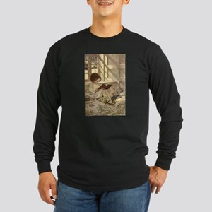 Vintage Books in Winter, Child Reading Long Sleeve