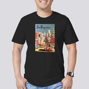 Vintage Travel Poster San Francisco Men's Fitted T