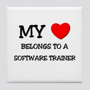 My Heart Belongs To A SOFTWARE TRAINER Tile Coaste