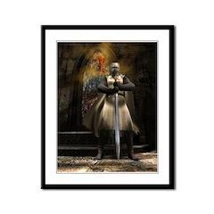Knight Templar Framed Panel Print