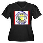 Alaska-5 Women's Plus Size V-Neck Dark T-Shirt