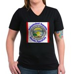 Alaska-5 Women's V-Neck Dark T-Shirt