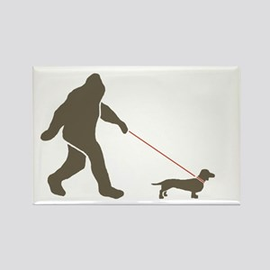 Sas. & Dog Rectangle Magnet