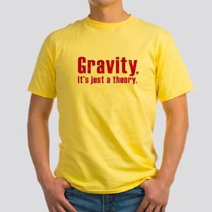 Gravity, it's just a Theory Yellow T-Shirt