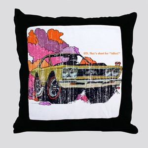 Plymouth GTX Illustration Throw Pillow