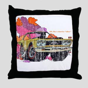 Plymouth GTX Illustration Throw Pillow