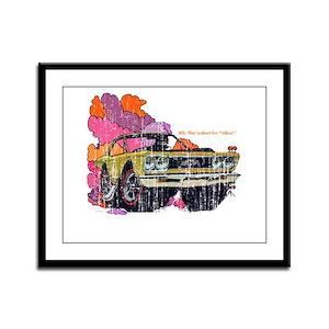 Plymouth GTX Illustration Framed Panel Print