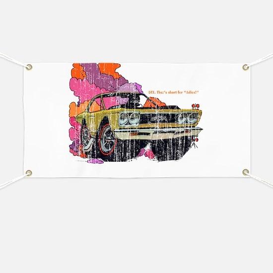 Plymouth GTX Illustration Banner