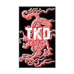 TKD Dragon Black Sticker